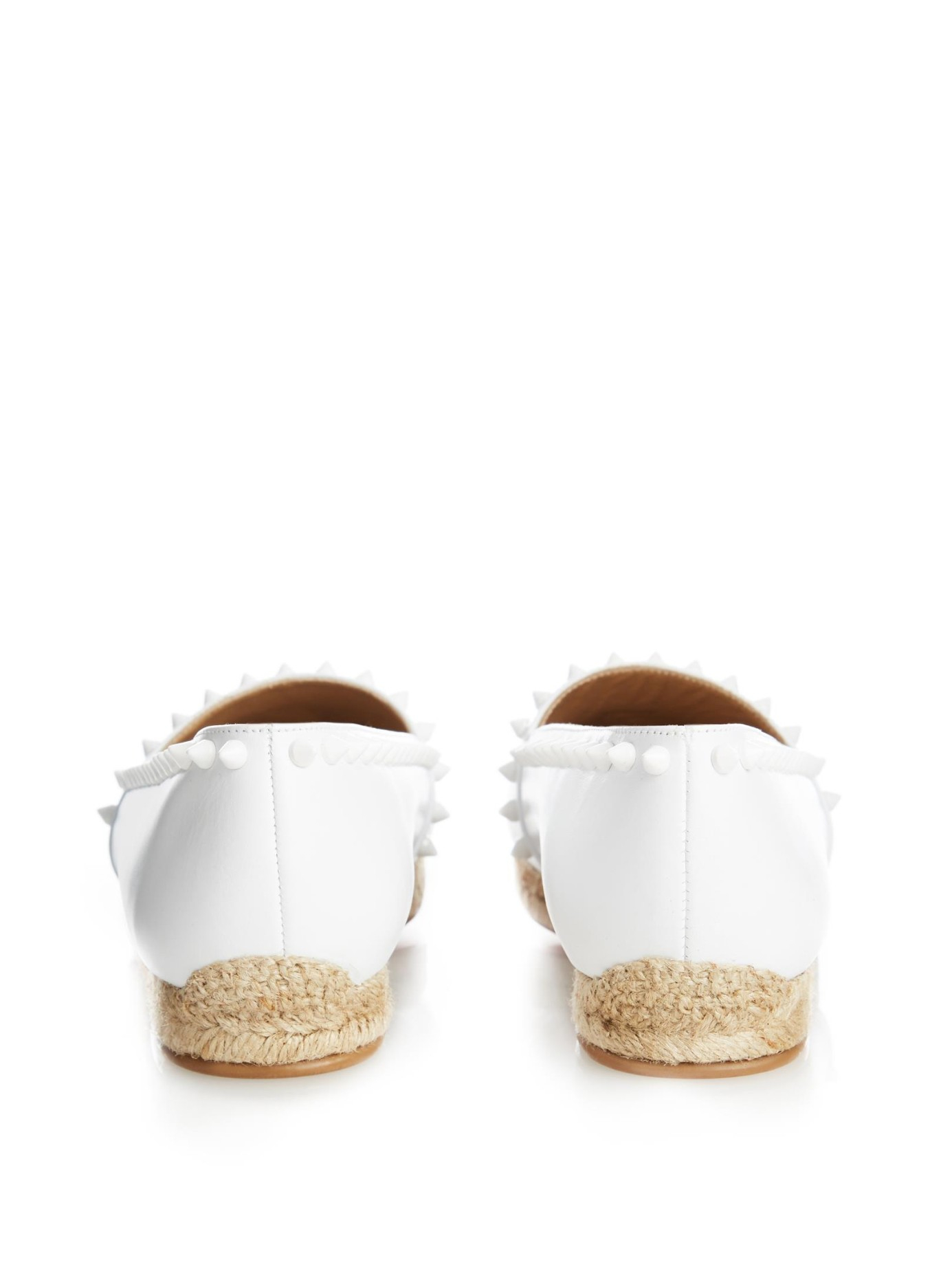 christian louboutin replica shoes - Christian louboutin Ares Stud-Embellished Espadrilles in White | Lyst