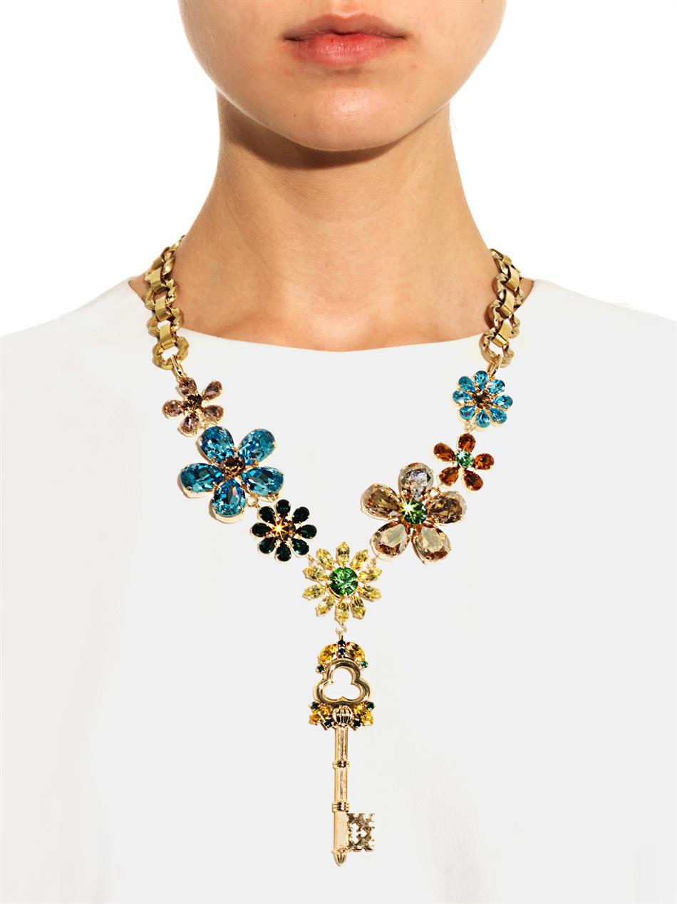 Crystal-embellished necklace Dolce & Gabbana JKPLZx