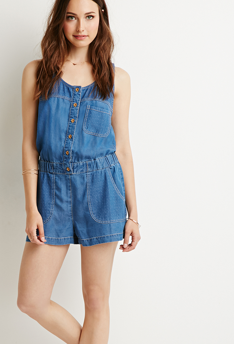 Collection Denim Rompers And Jumpsuits Pictures - Reikian