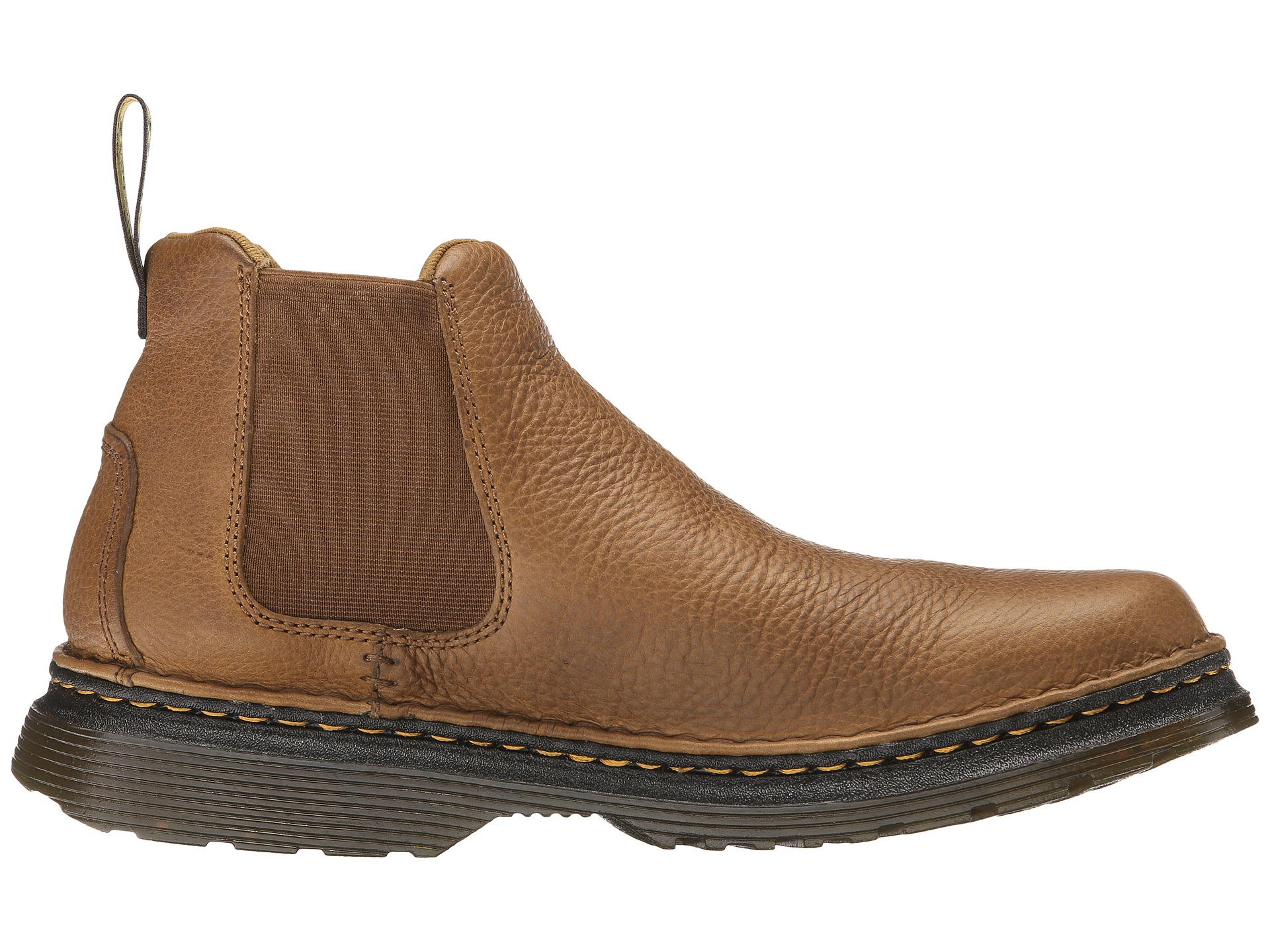 dr martens oakford chelsea boot in brown for men tan biscuit grizzly hi suede wp lyst. Black Bedroom Furniture Sets. Home Design Ideas