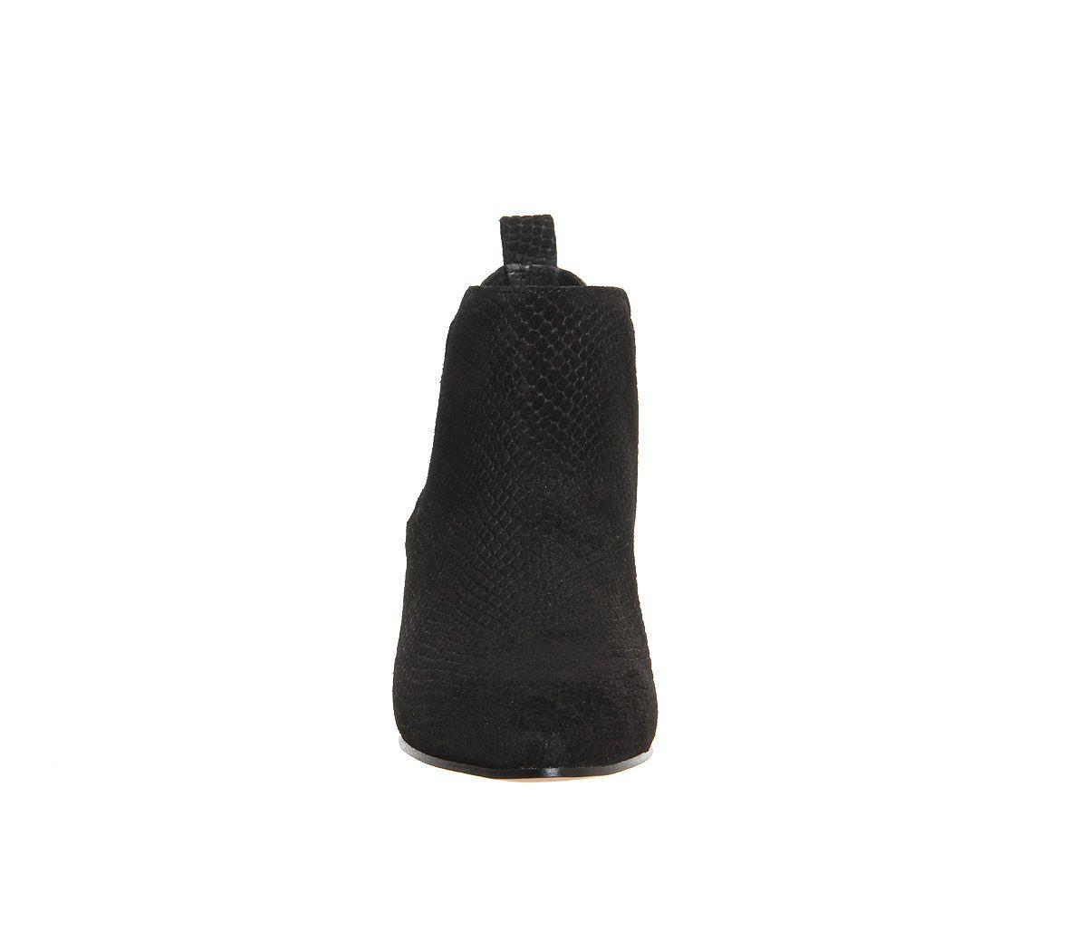 Office Coolcat Almond Toe Mod Chelsea Boots in Black Suede (Black)
