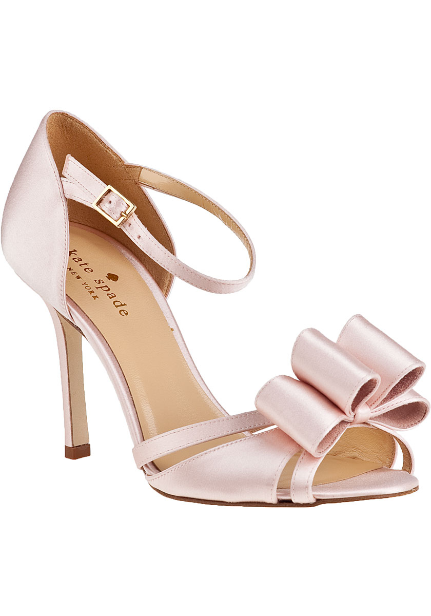 Kate Spade Ivela Evening Sandal Rose Petal Pink Satin In