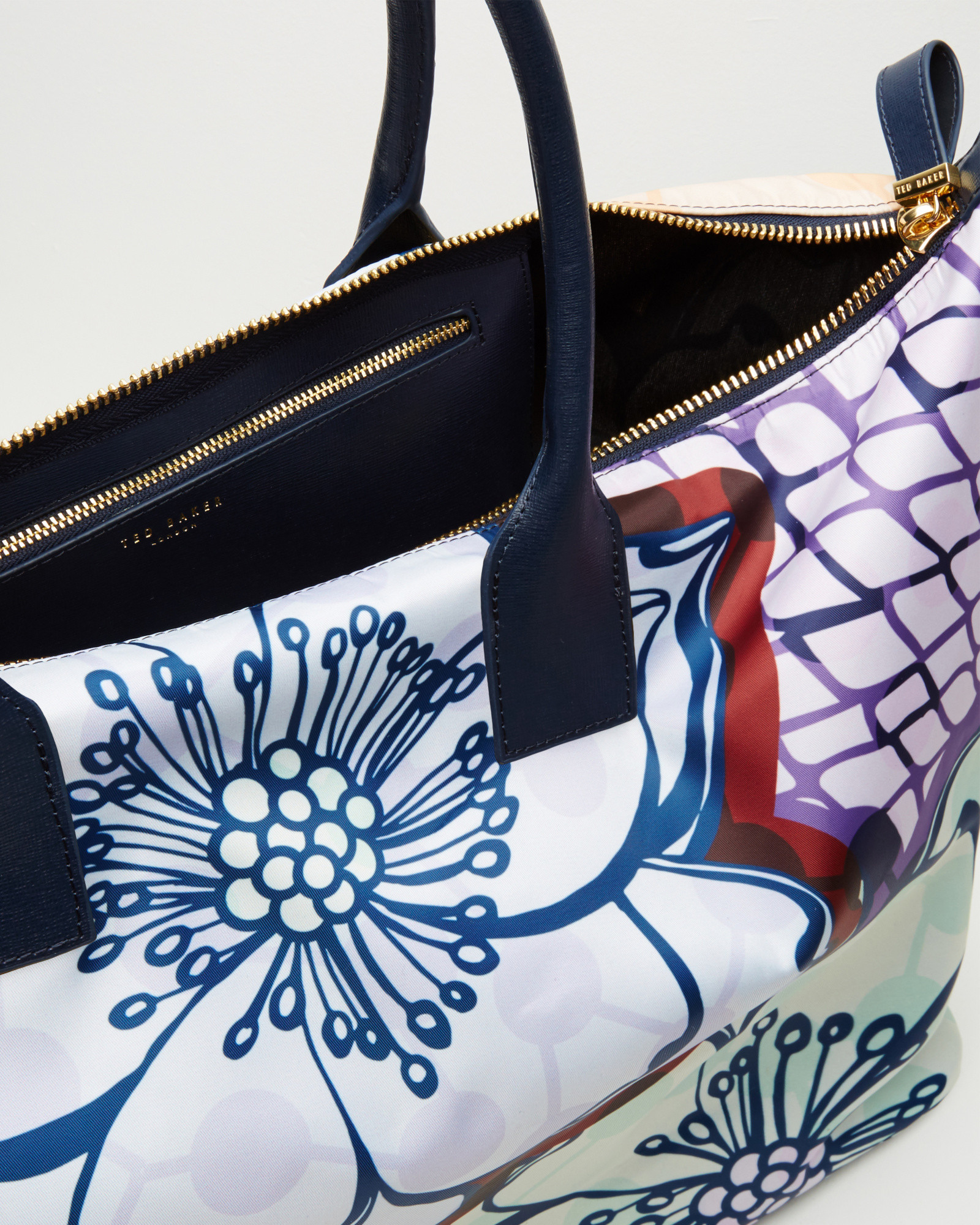 Ted Baker Leather Africa Large Tote Bag in Navy (Blue)