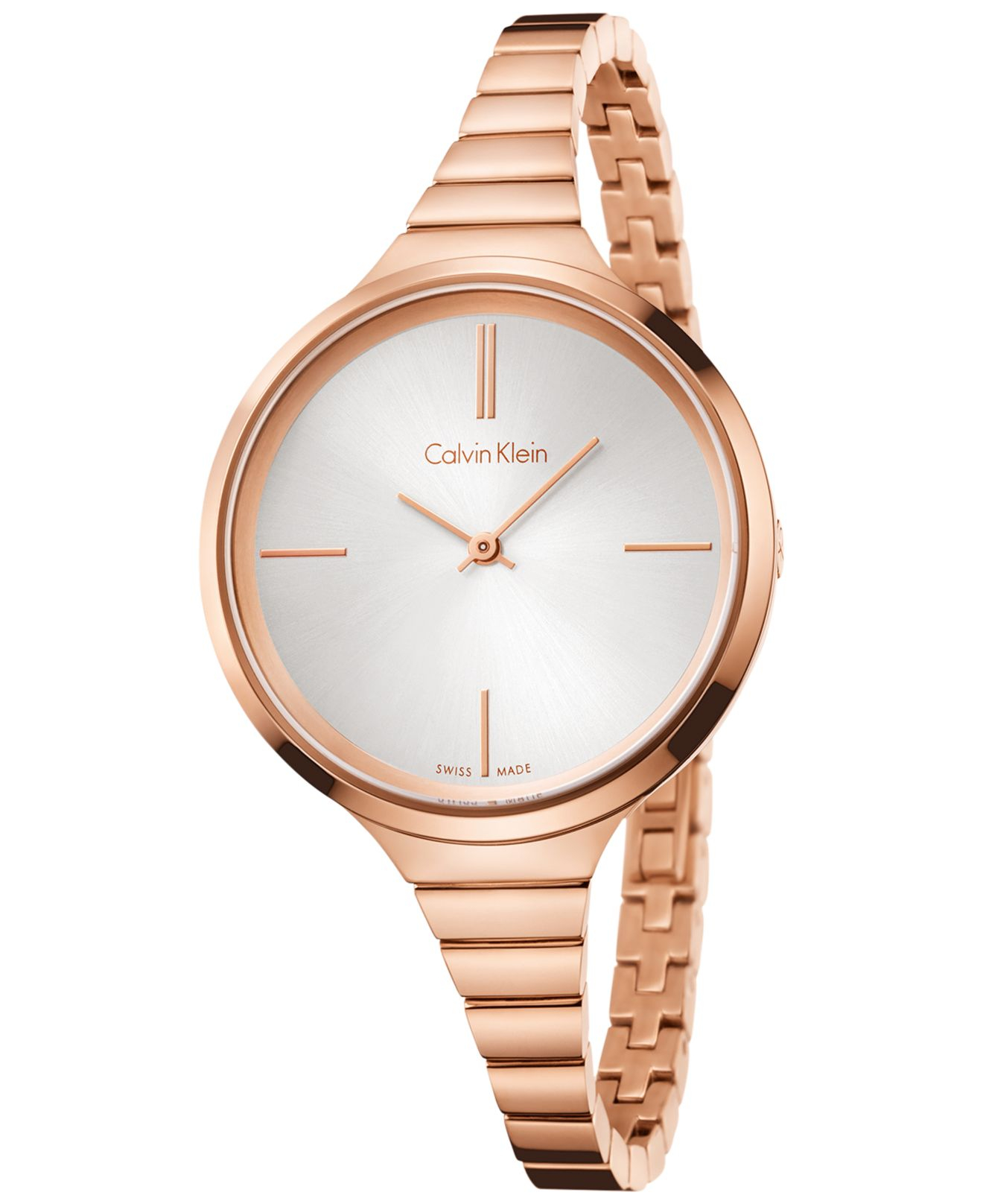 calvin klein s swiss lively gold tone pvd