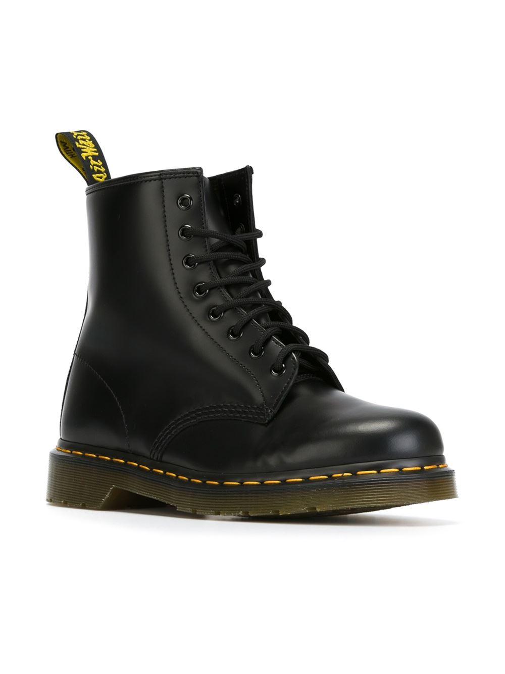 dr martens 39 1460 39 boots in black for men lyst. Black Bedroom Furniture Sets. Home Design Ideas