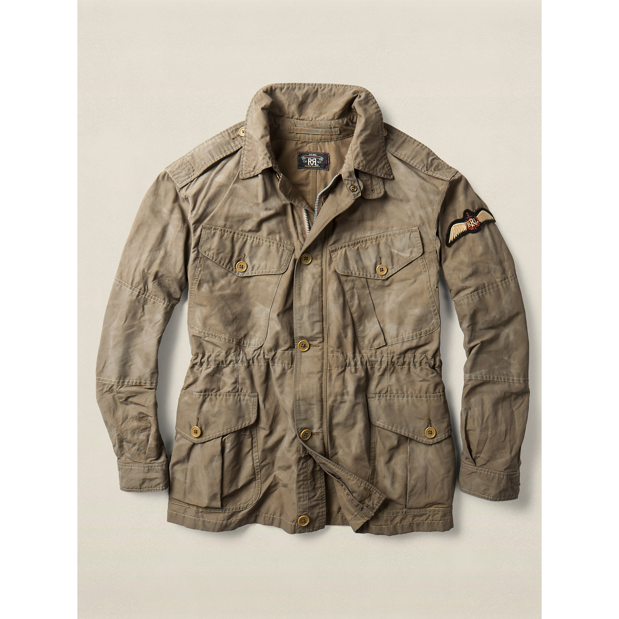 c6c9174be4 Lyst - Ralph Lauren Rawlins Military Jacket in Green for Men