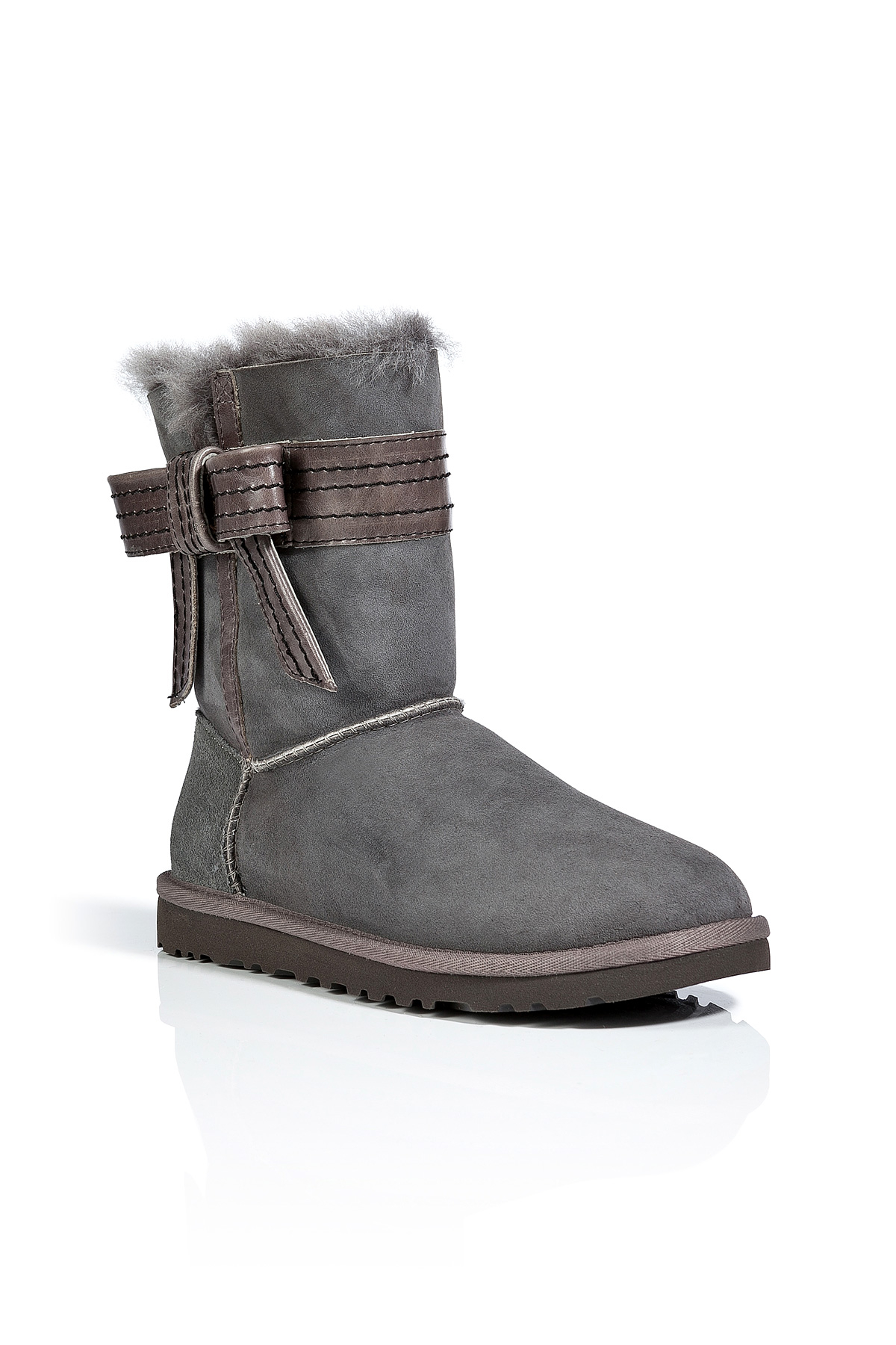 Ugg Suede Josette Boots In Grey In Gray Lyst