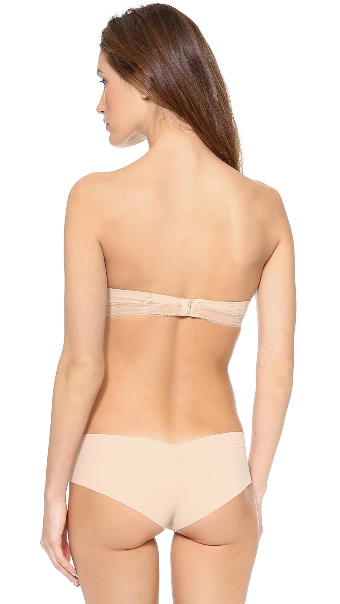 d59cf3505d52c5 Lyst - Calvin Klein Icon Modern T-shirt Strapless Bra in Natural