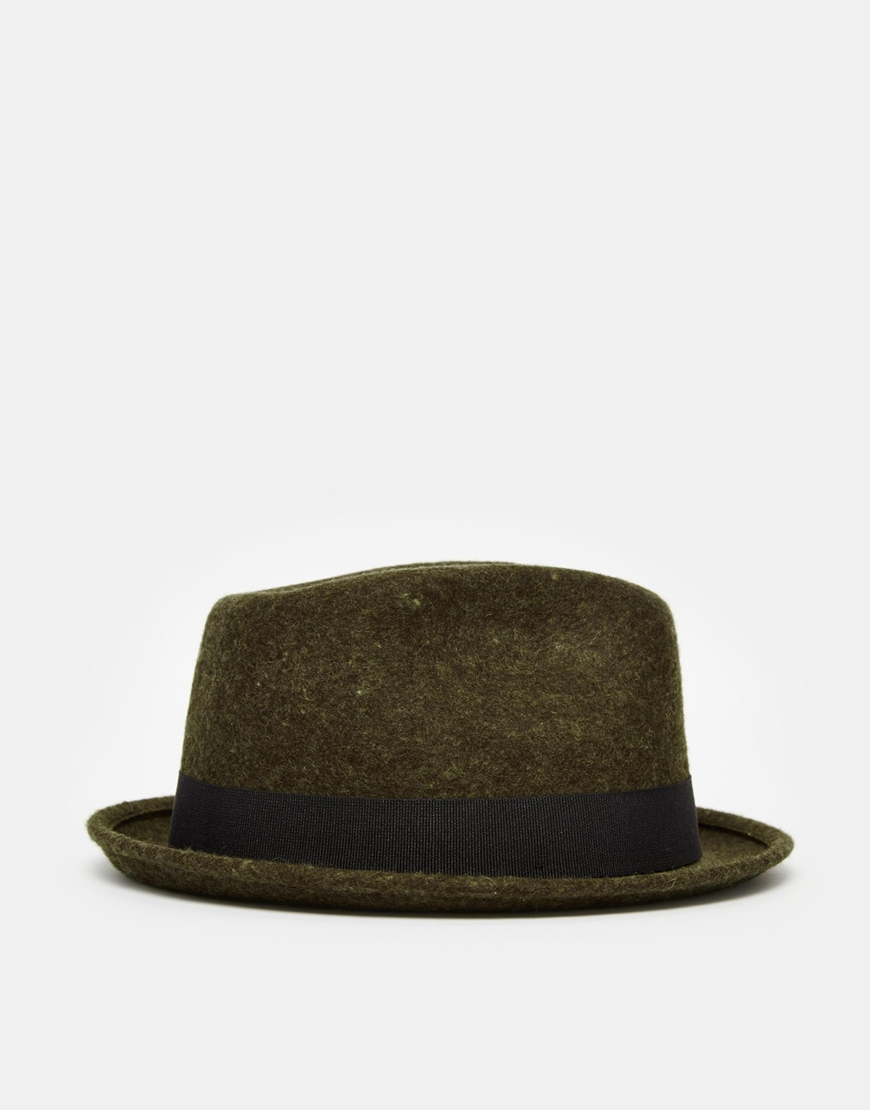 Lyst - Catarzi Pork Pie Hat in Green for Men 21b3a77caad
