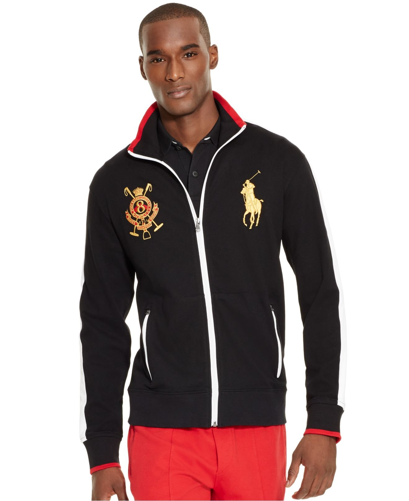 Polo Ralph Lauren Embroidered Full Zip Long Sleeve Sweater