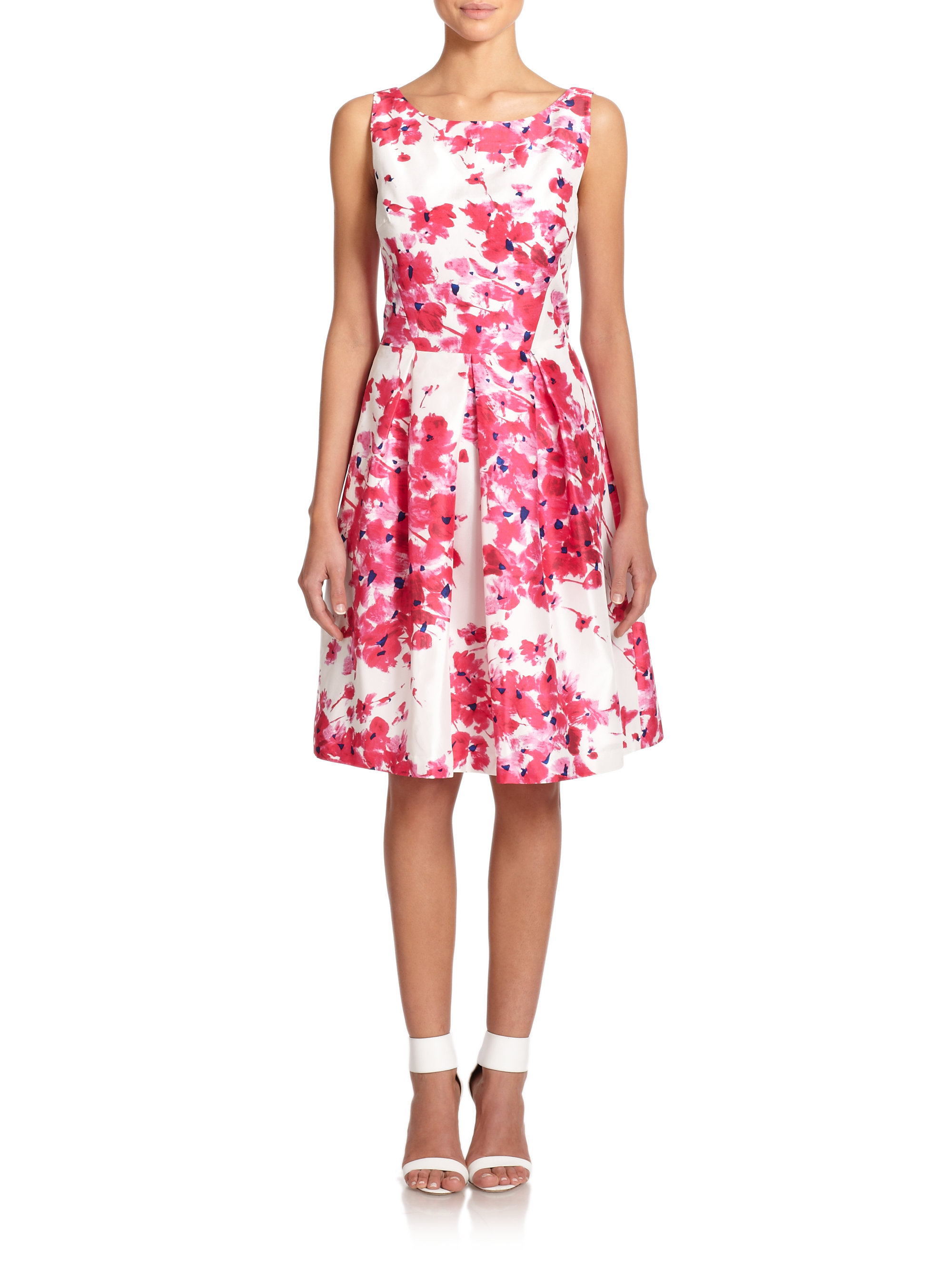 unger duiponi floral print dress in pink lyst