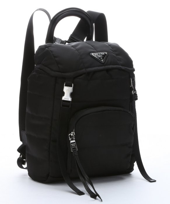 ... promo code for lyst prada black quilted tessuto nylon small backpack in  black 11fe9 8ecfd 32d3db007cfe5