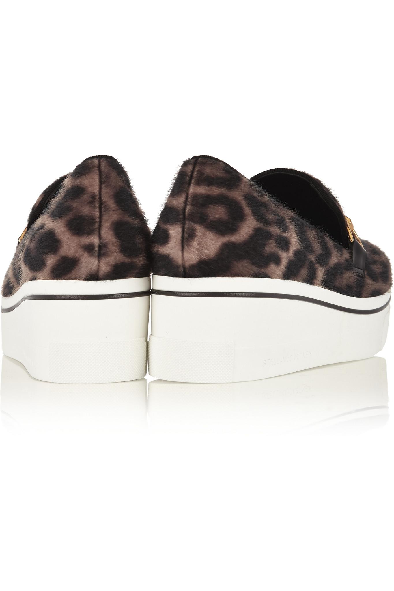 1639e531d909 Stella McCartney Binx Leopard-print Faux Calf Hair Platform Loafers ...