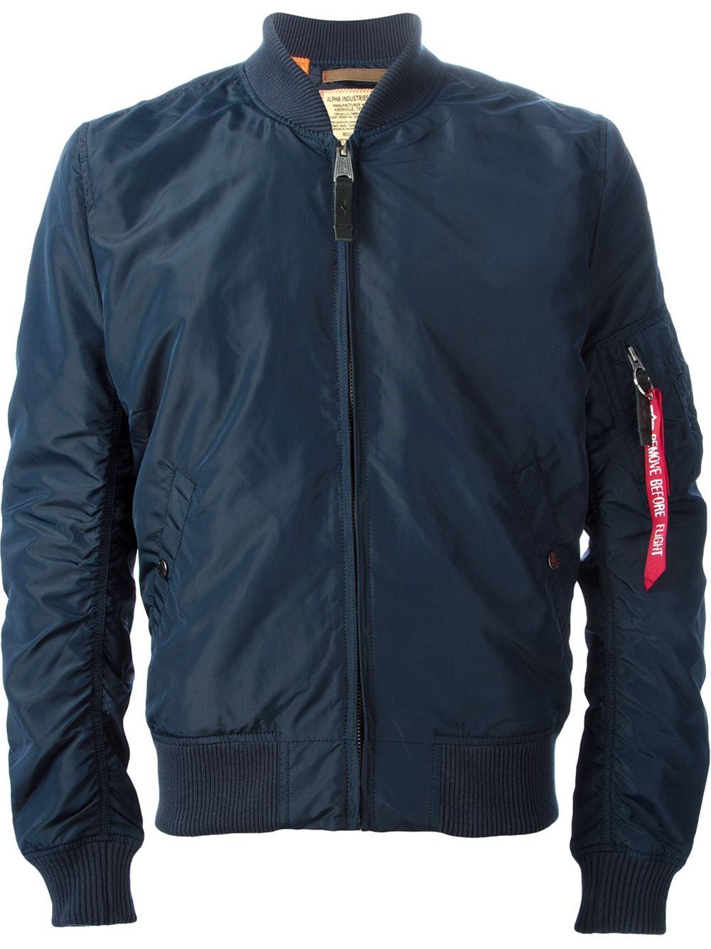 alpha industries classic bomber jacket in blue for men lyst. Black Bedroom Furniture Sets. Home Design Ideas