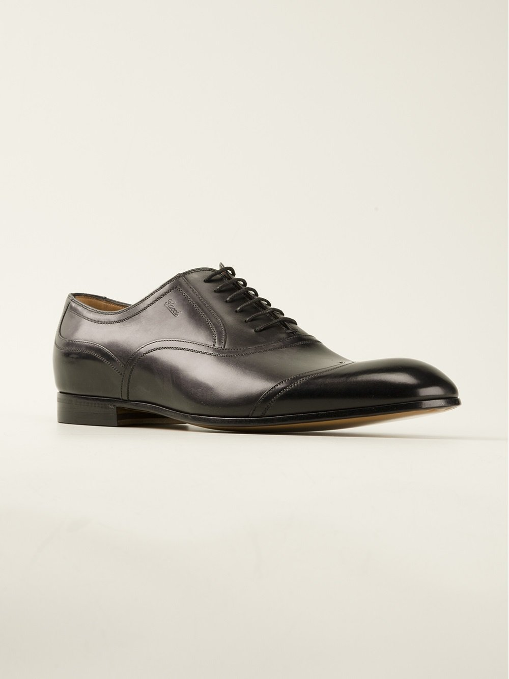 gucci derby shoe in black for lyst