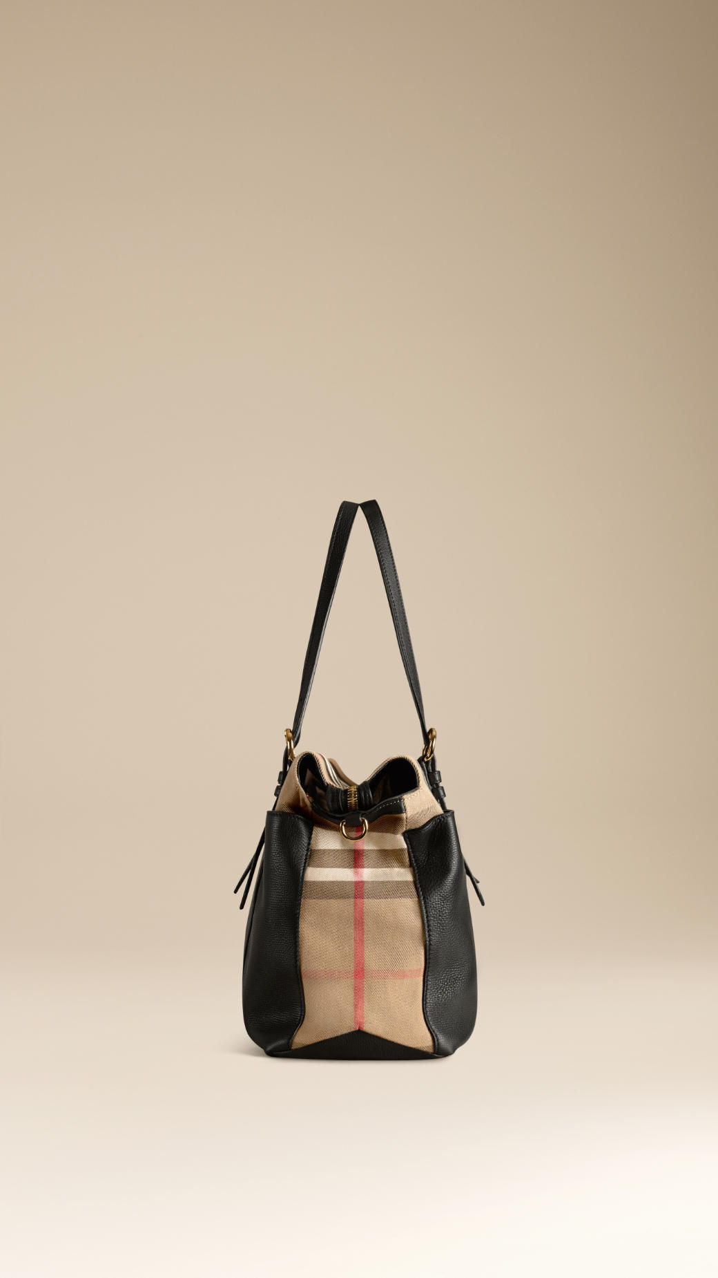 8ba9102db108 Lyst - Burberry House Check And Leather Baby Changing Bag in Black