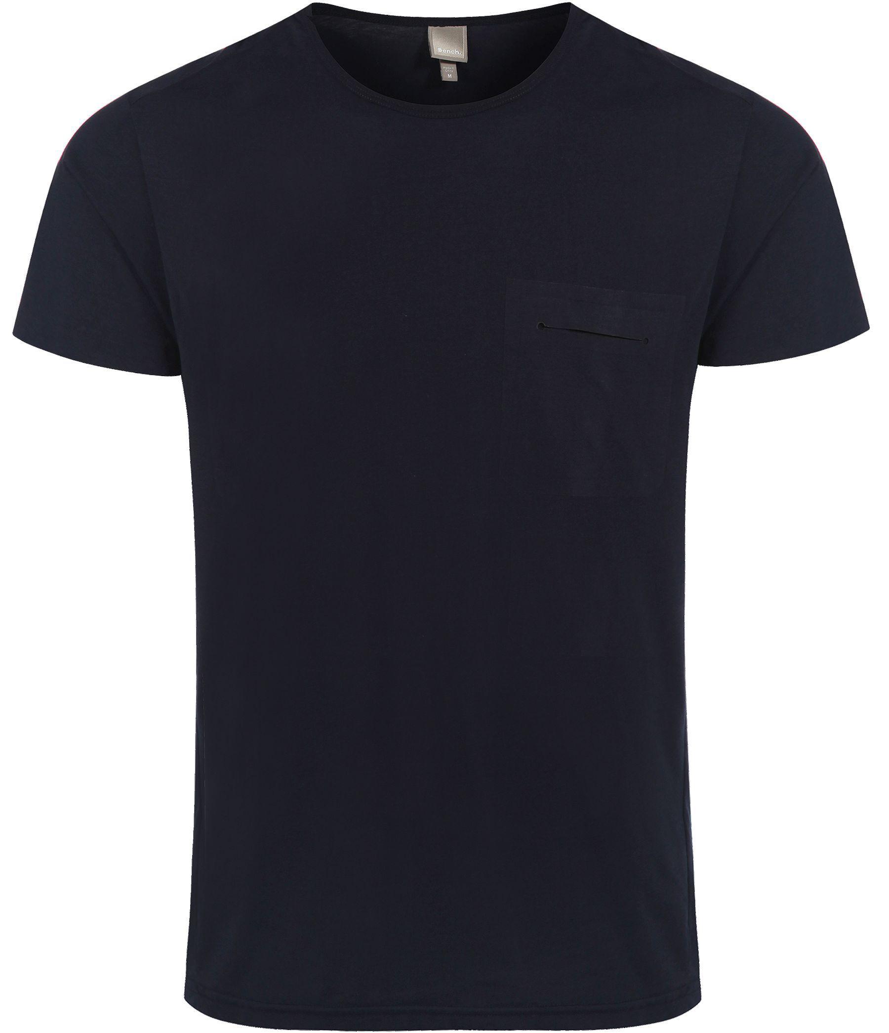 Bench Triapse Plain Crew Neck Regular Fit T-Shirt in Blue ...