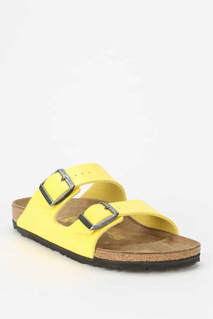 birkenstock arizona yellow suede