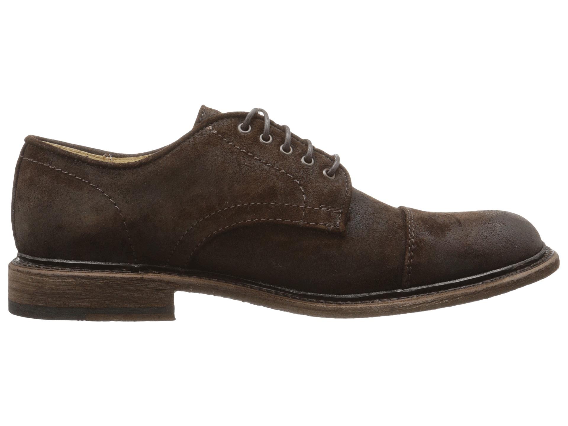 Frye Jack Oxford In Brown For Men Dark Brown Waxed Suede