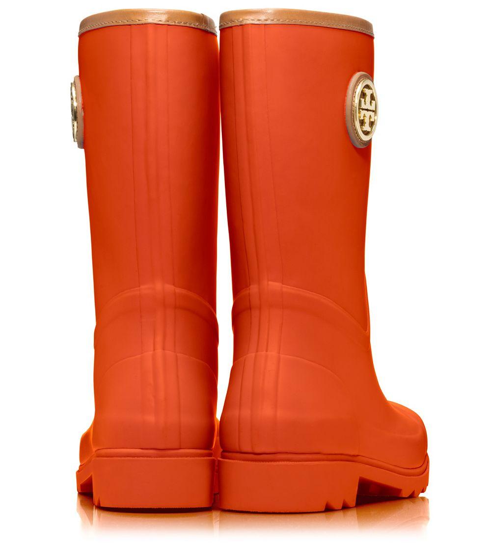 b3ed65953efb Lyst - Tory Burch Maureen Rain Boot in Orange