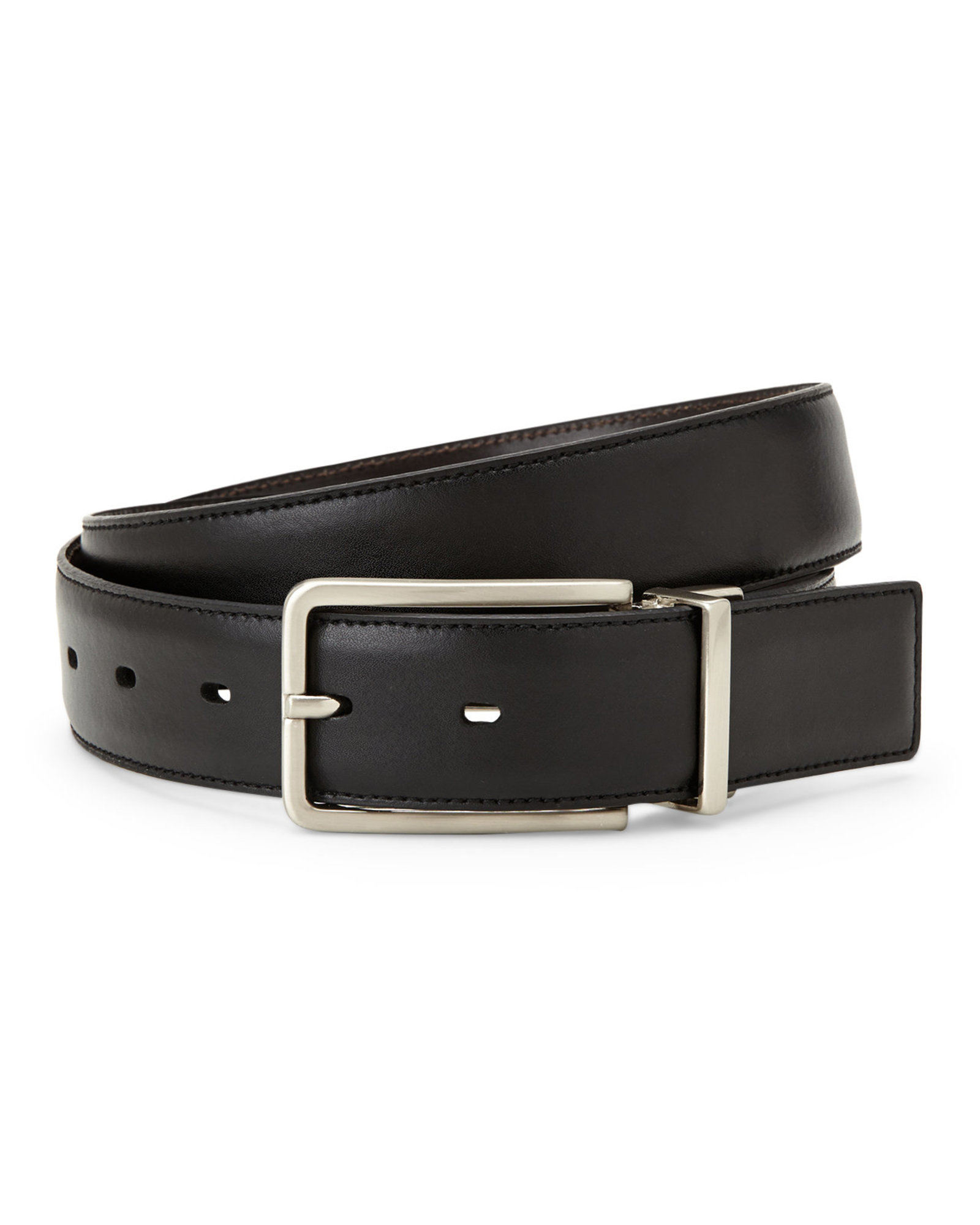 kenneth cole 1 1 4 quot black brown reversible belt in