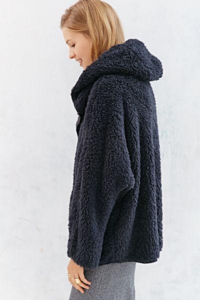Lyst Bdg Fuzzy Reversible Jacket In Blue