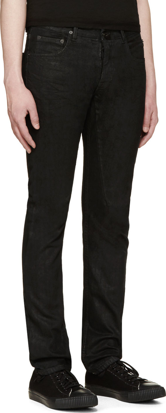4e0d309634e7f DRKSHDW by Rick Owens Black Coated Detroit Cut Jeans in Black for ...