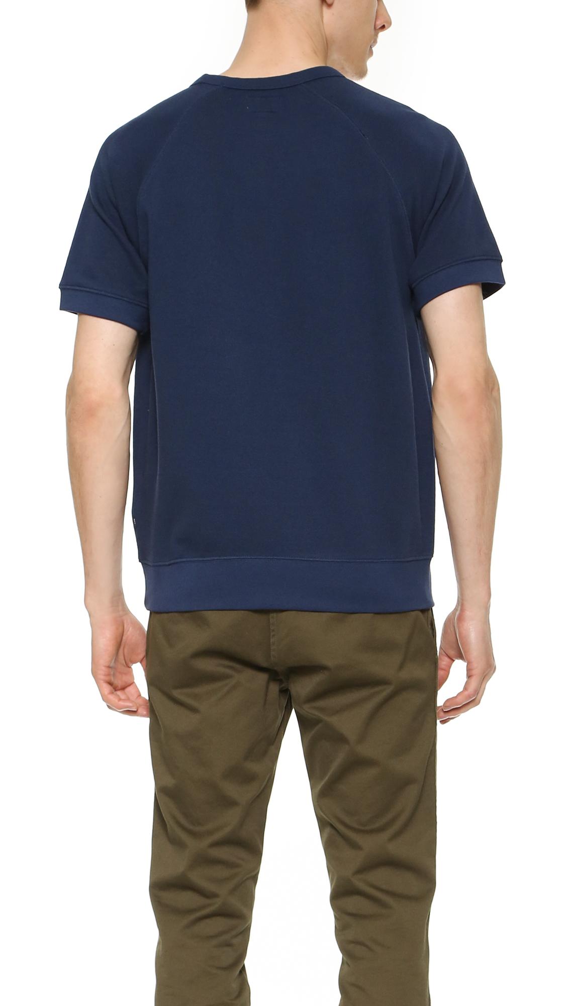obey summer fleece pullover in blue for men lyst. Black Bedroom Furniture Sets. Home Design Ideas