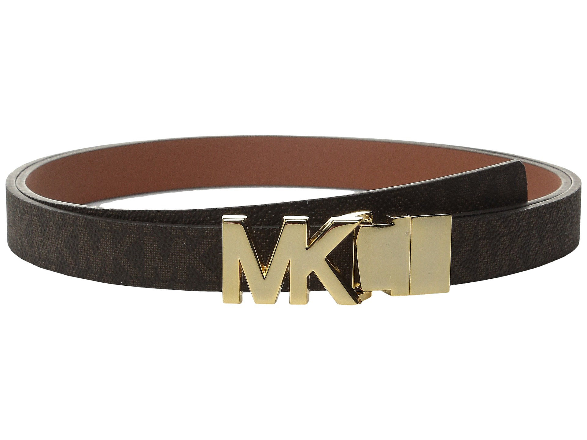 8acd76ed4a66 Lyst - MICHAEL Michael Kors 20mm Reversible Logo Pvc To Smooth Belt ...