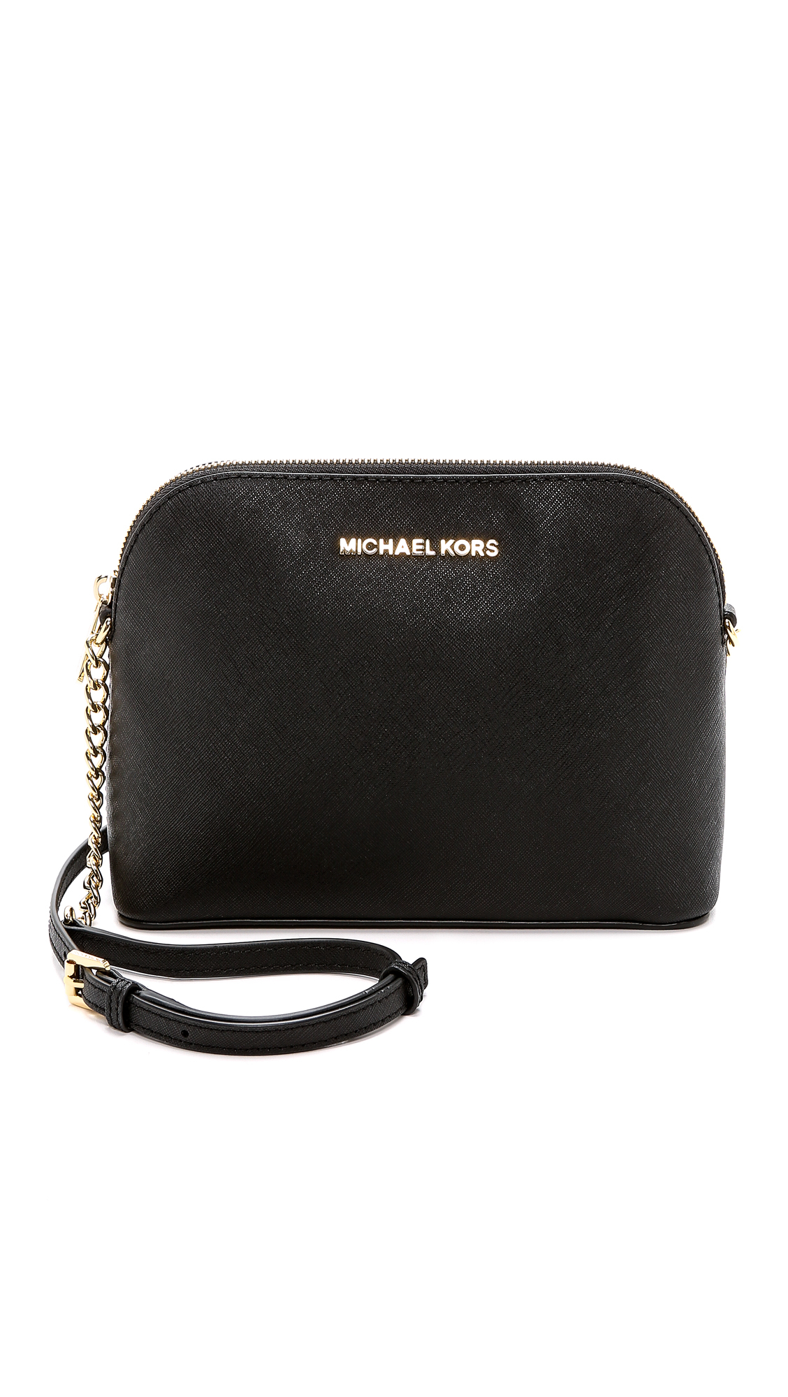 MICHAEL Michael Kors Leather Cindy Dome Cross Body Bag in Black