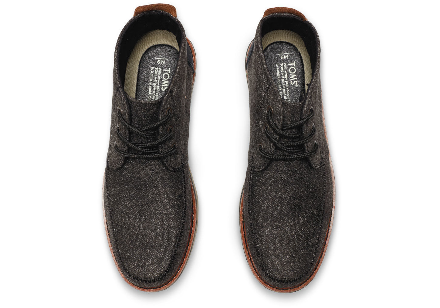 Toms Black Herringbone Men&39s Chukka Boots in Black for Men | Lyst