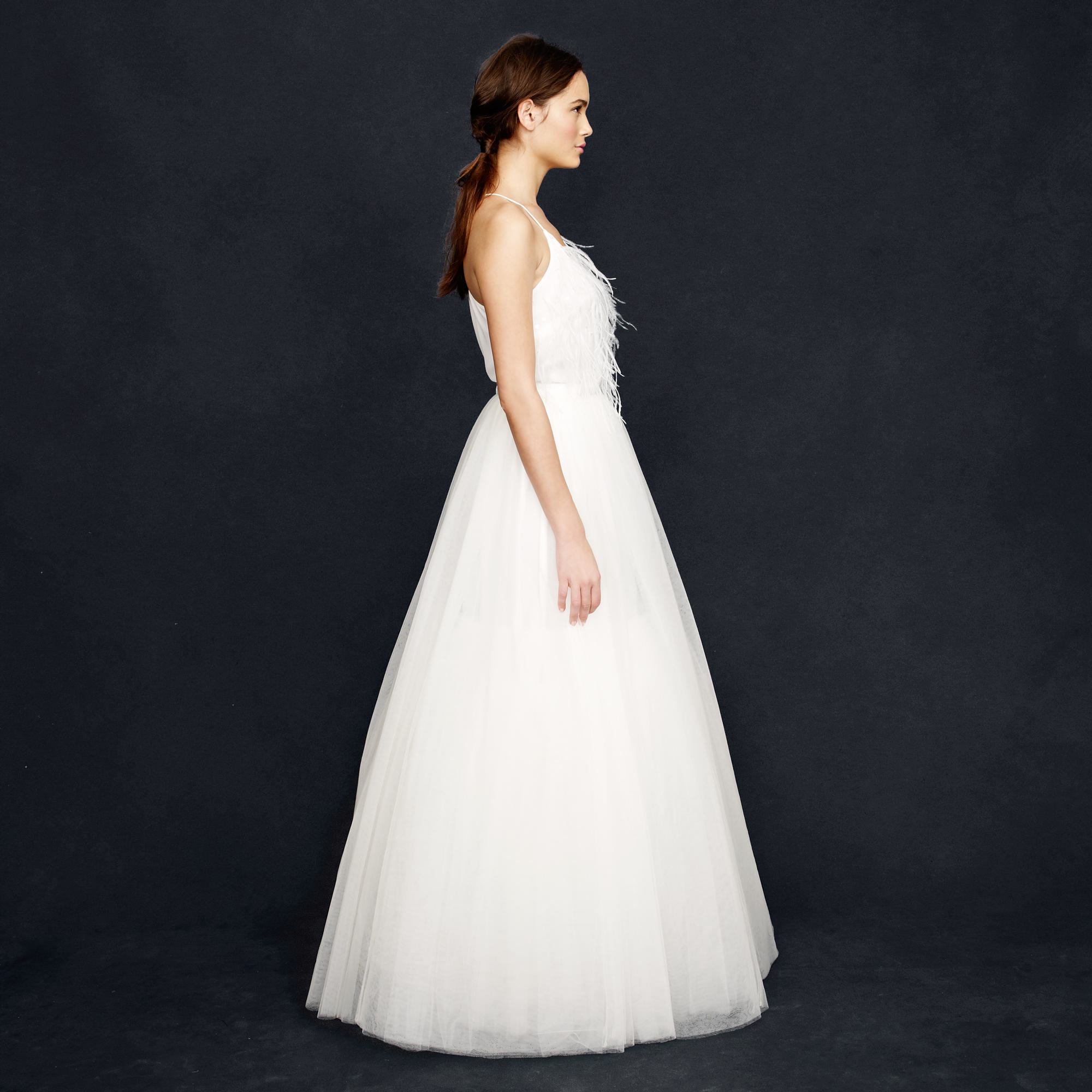 J.Crew Collection Snowdrop Tulle Ball Gown Skirt in Ivory (White)