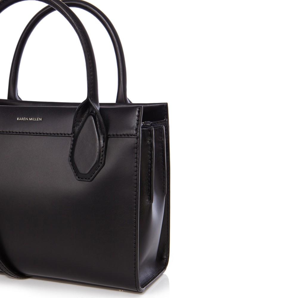 Perforated Shopper Bag - Black Karen Millen TDl0u