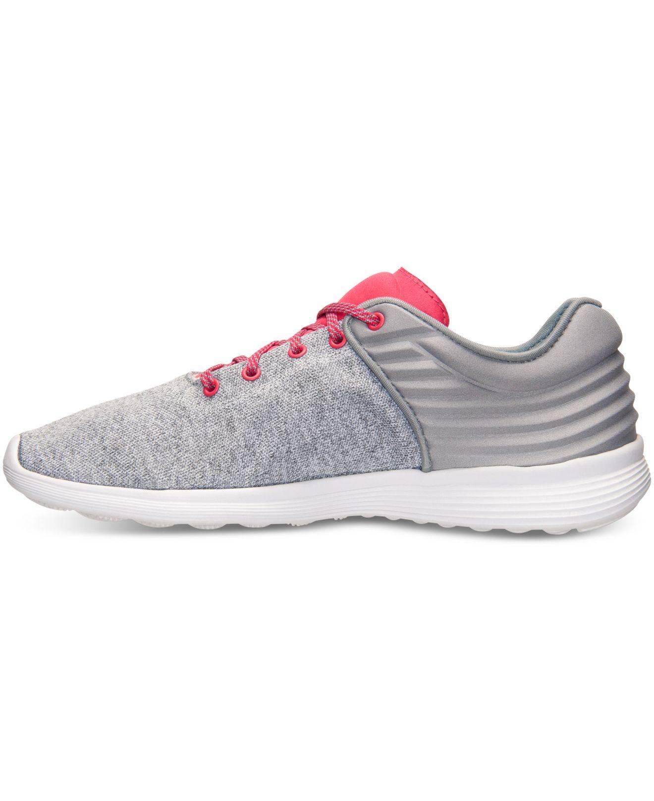 Lyst - Reebok Women s Skyscape Fuse Walking Sneakers From Finish Line in  Pink 8635db5cf