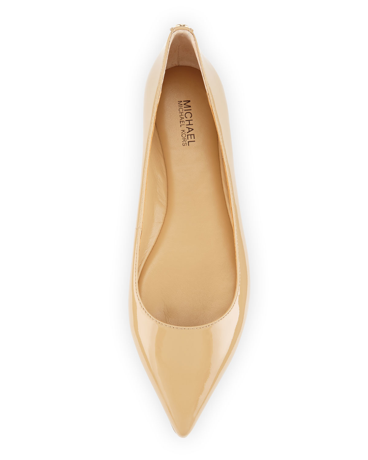 43648ffd92b Lyst - MICHAEL Michael Kors Arianna Patent Pointed-toe Flat in Natural