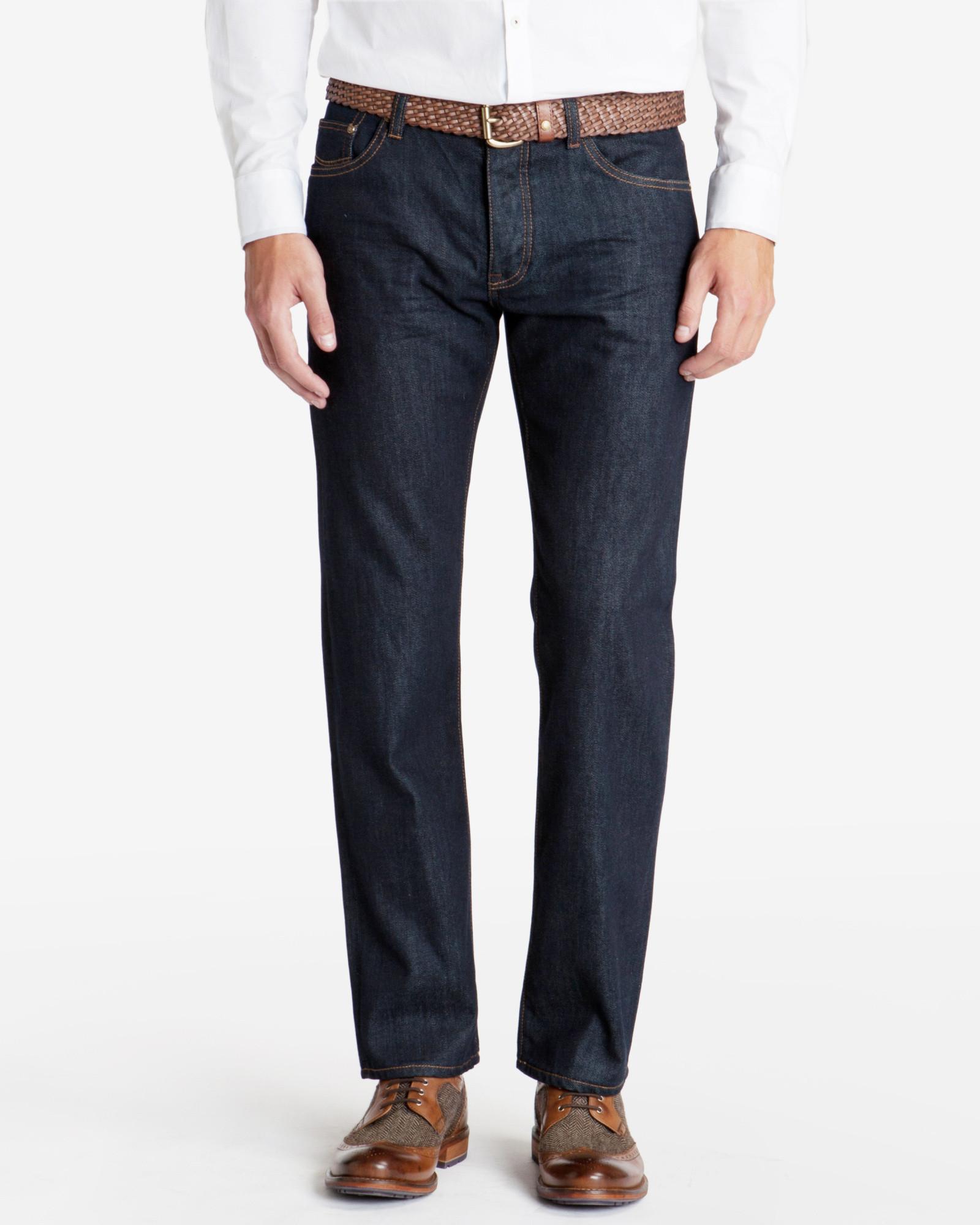 5304d340b4517 Lyst - Ted Baker Obsign Rinse Wash Denim Jeans in Blue for Men