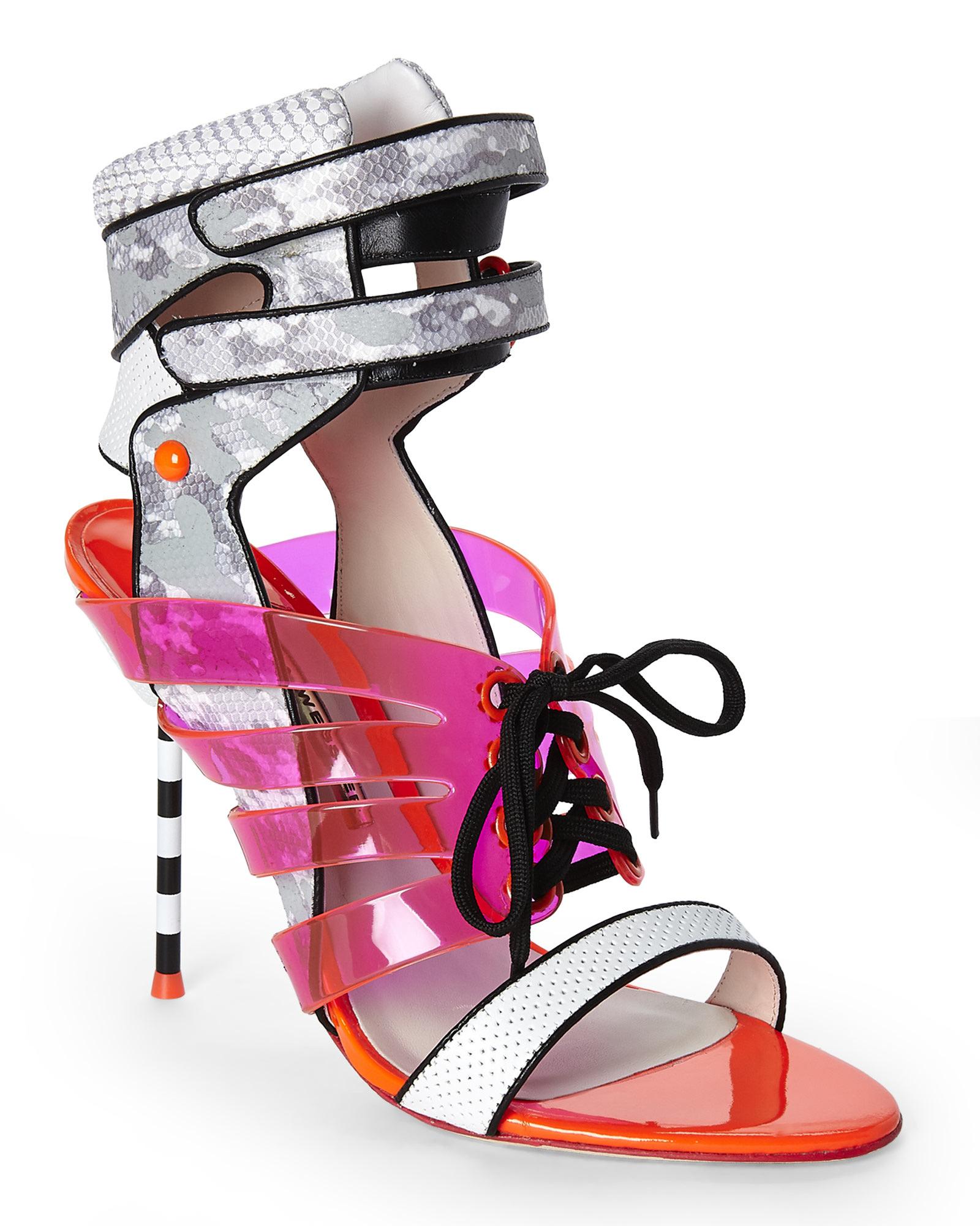 428bc7b2a2c3 Lyst - Sophia Webster Jourdan Jelly Lace-up Sandal in Gray