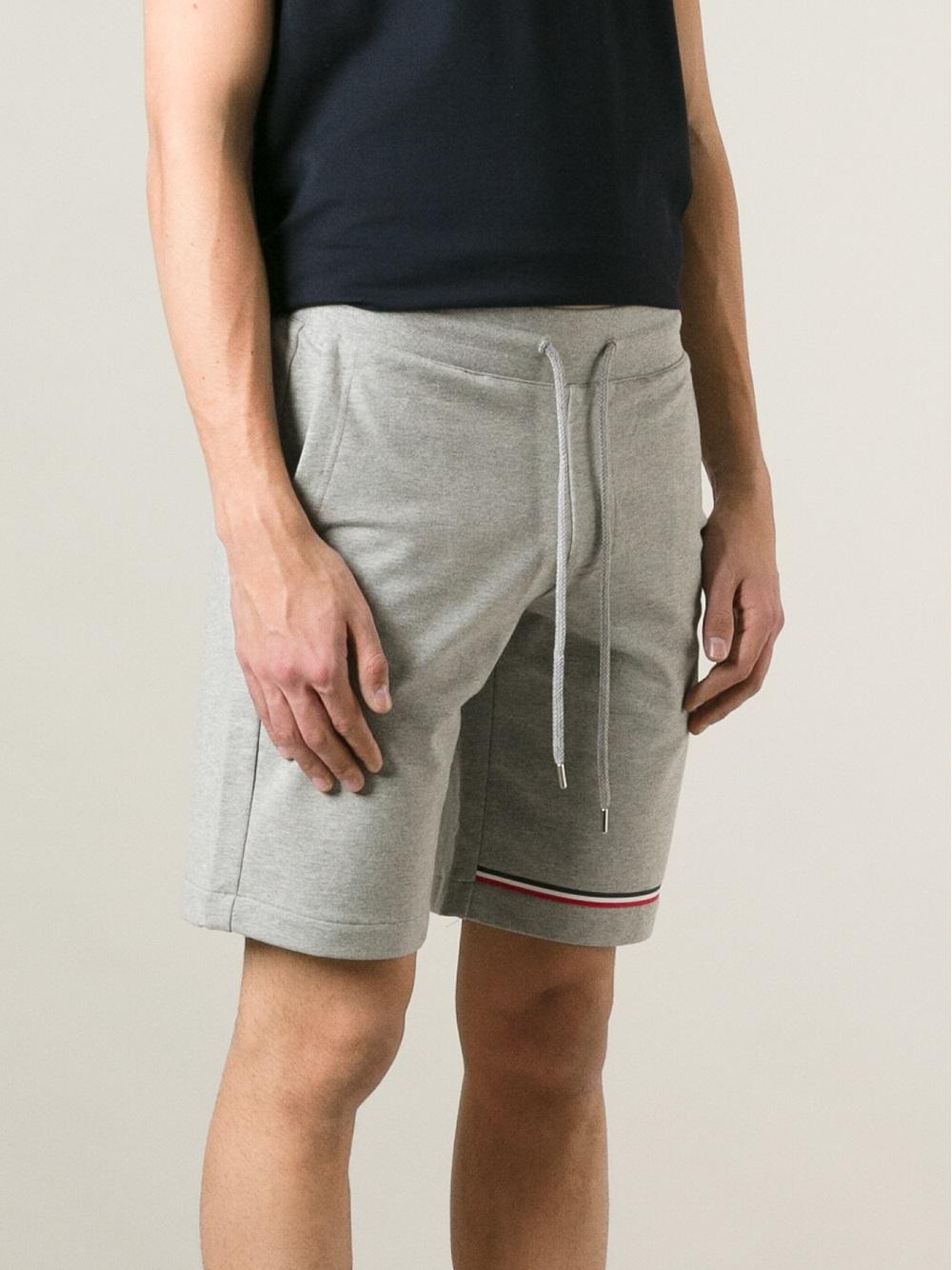 d68dc4aa300a Moncler Sweatshorts in Gray for Men - Lyst