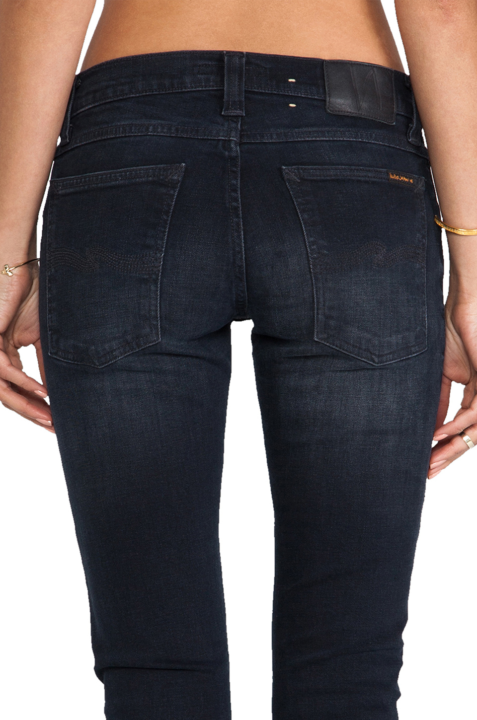 nudie jeans tight long john skinny in blue lyst. Black Bedroom Furniture Sets. Home Design Ideas