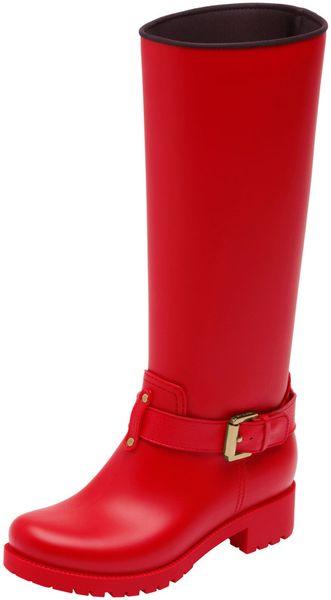 Mulberry Biker Rain Boot In Red Lyst