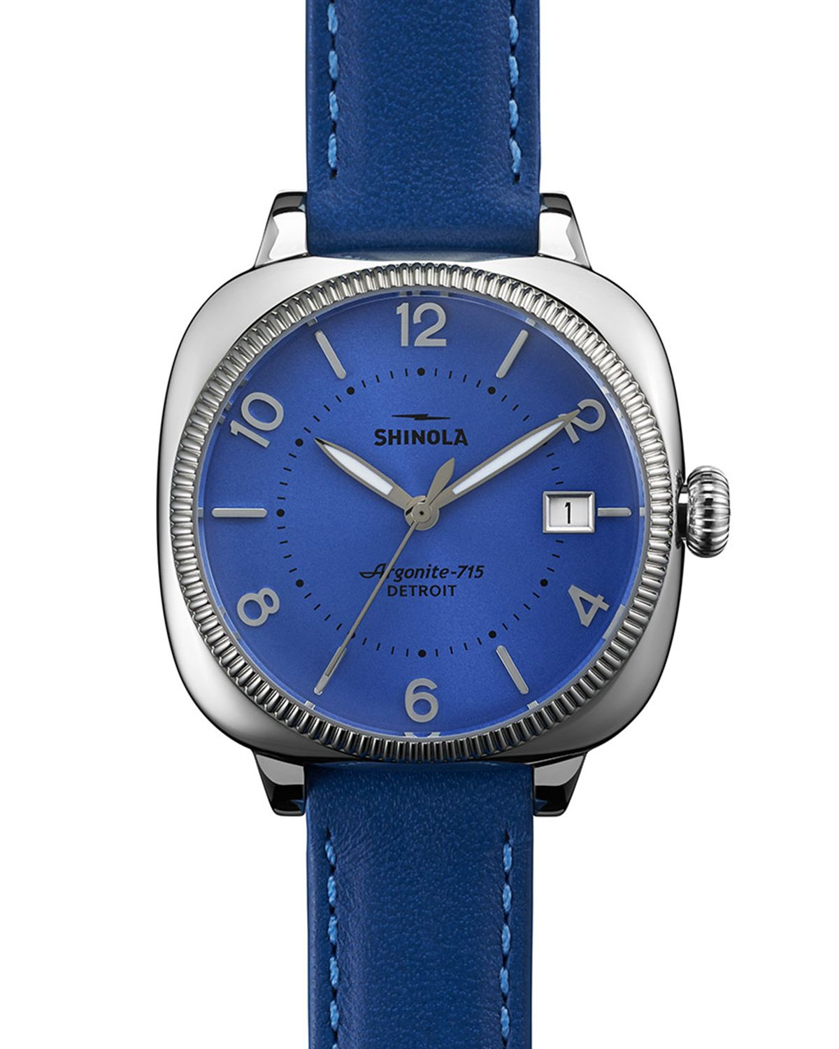 Shinola the gomelsky watch 36mm in blue lyst for Shinola watches