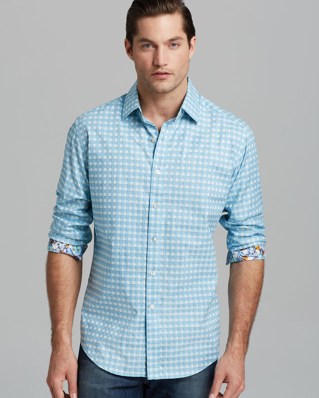 Robert graham tiberius sport shirt classic fit in blue for for Robert graham sport shirt