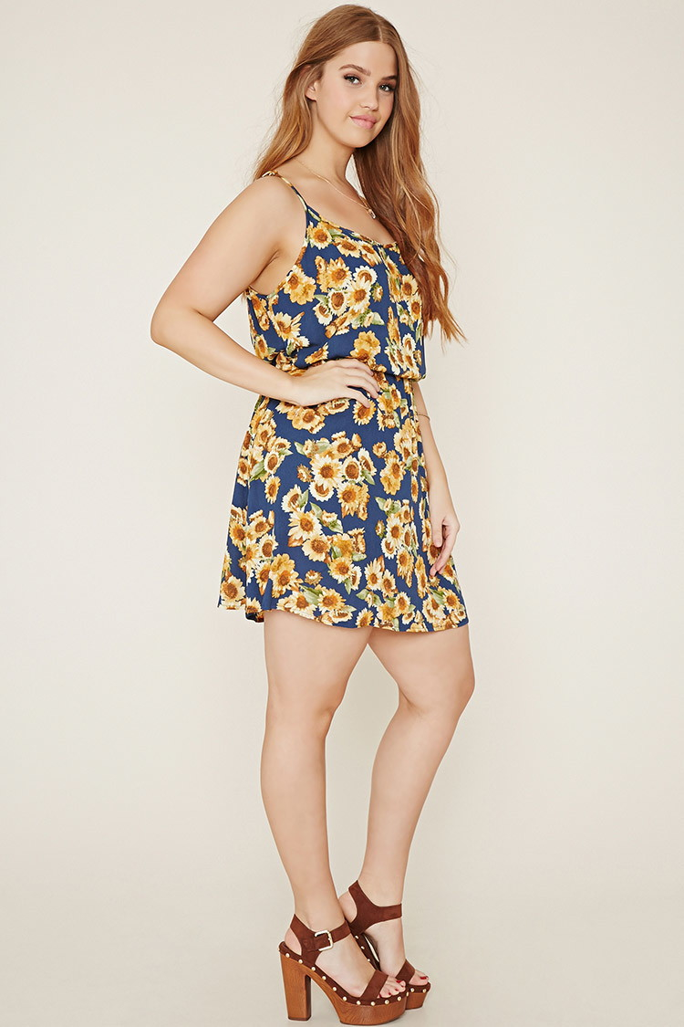 Lyst - Forever 21 Plus Size Sunflower Cami Dress