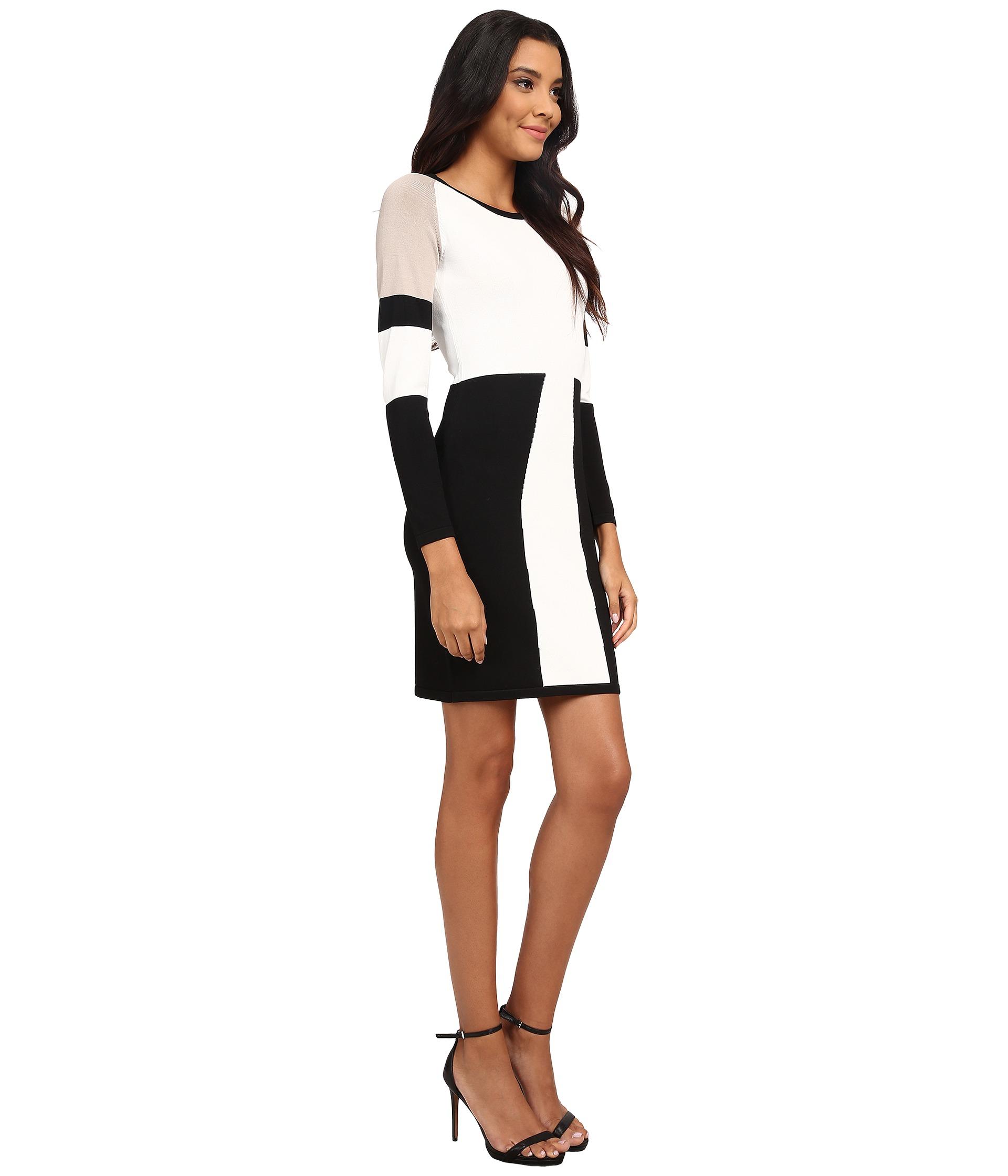Color Block Dress Calvin In Sweater Klein Natural Lyst QBoCrsthdx