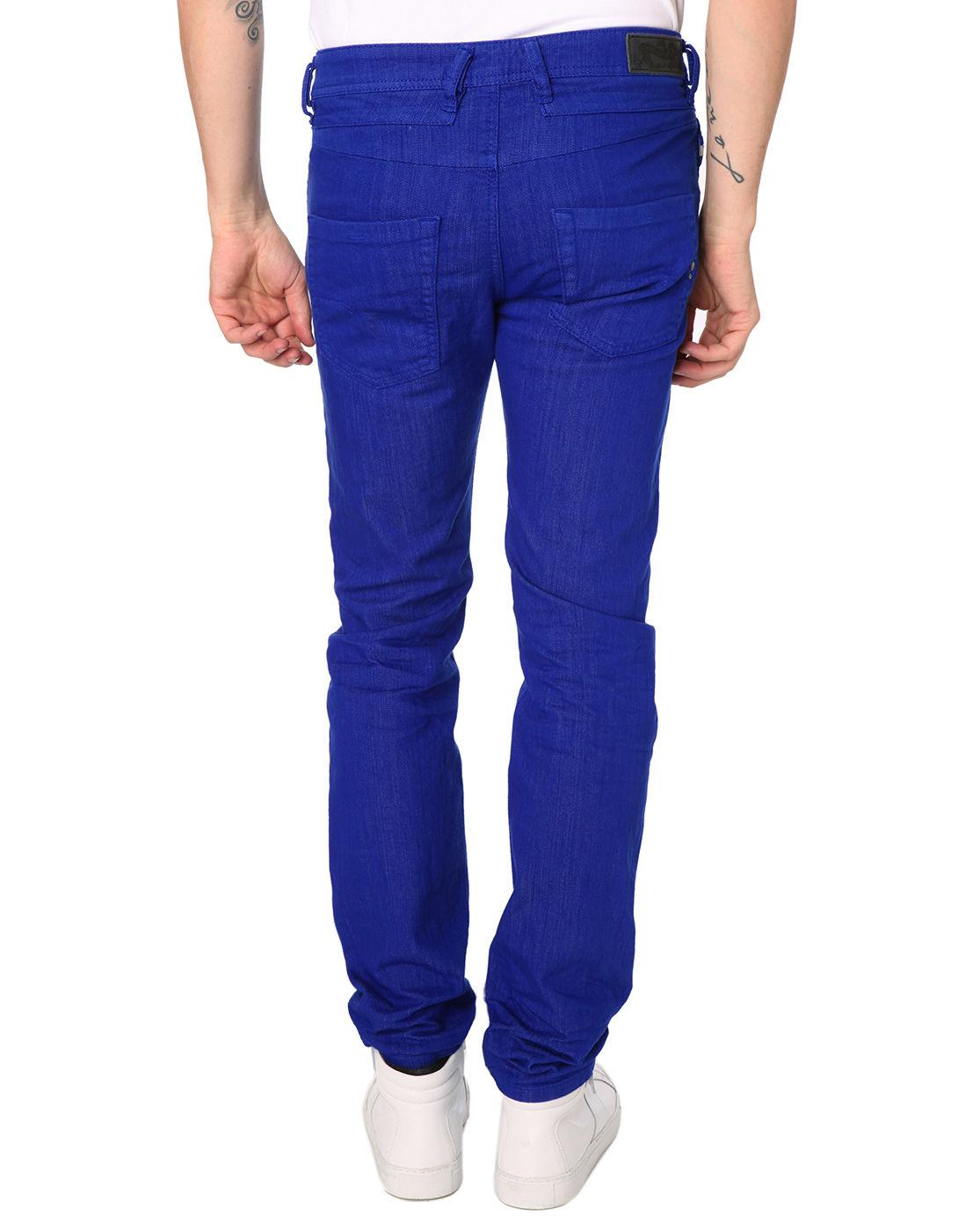 Diesel Belther Royal Blue Regular Slim Fit Denim Jeans in Blue for Men   Lyst