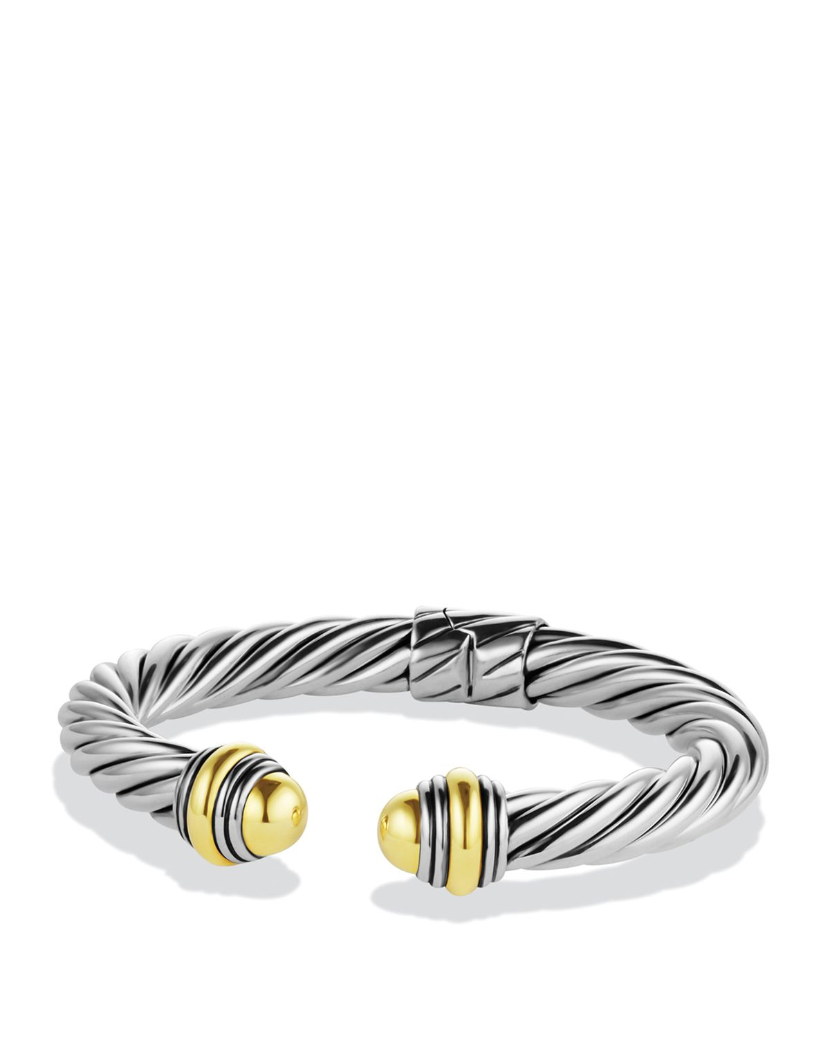 Lyst david yurman cable classics bracelet with gold for David yurman inspired bracelet cable