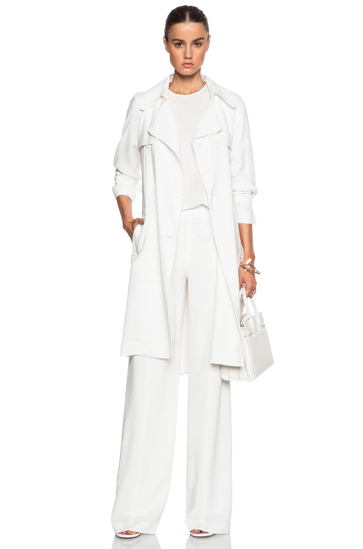 Jenni kayne Lightweight Crepe Wide Leg Pants in White | Lyst