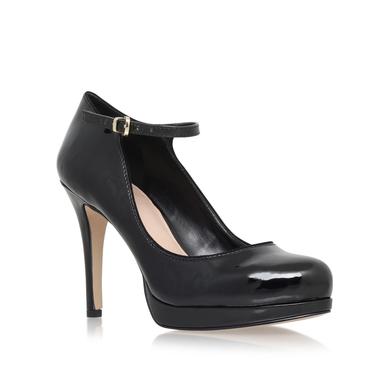 carvela kurt geiger adele high heel court shoes in black