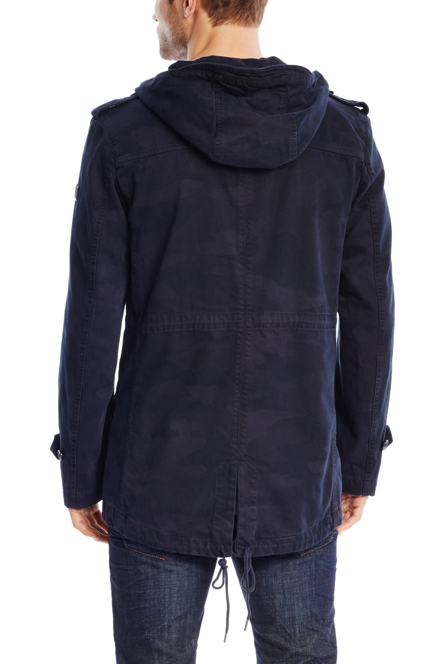 Boss orange 'olivero-d' | Cotton Camouflage Hooded Parka in Blue ...