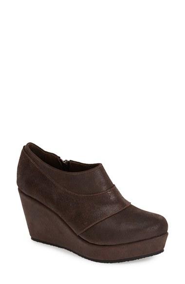 cordani faith wedge boot in brown lyst